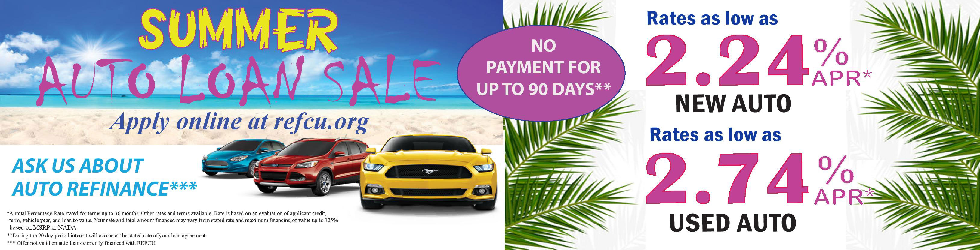 Summer auto loan sale - rates as low as 2.24%